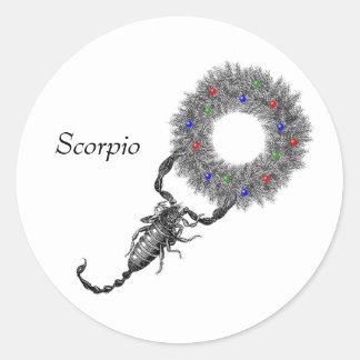 Natal da Escorpião Adesivo