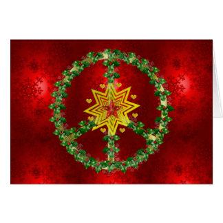 Natal da estrela da paz cartão