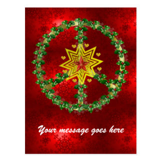 Natal da estrela da paz cartão postal