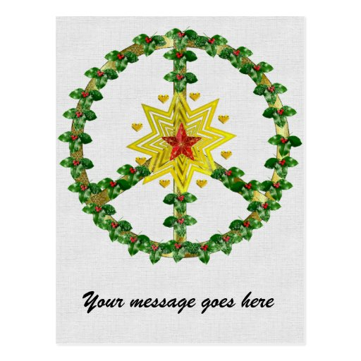 Natal da estrela da paz cartões postais
