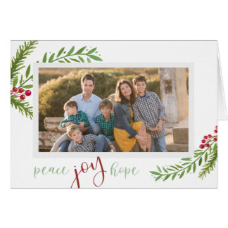 Natal da foto da folha da aguarela da esperança da cartão