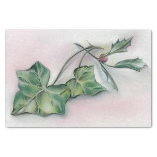 Natal da hera e do azevinho papel de seda