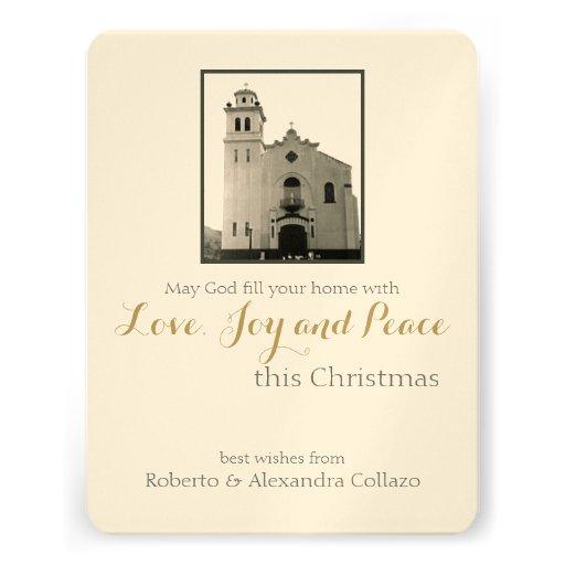 Natal da igreja Católica Convite