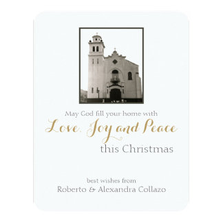 Natal da igreja Católica Convite 10.79 X 13.97cm