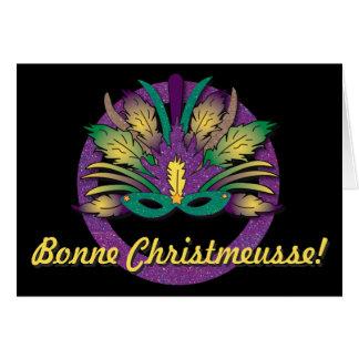 Natal da máscara do carnaval - francês de Cajun Cartão Comemorativo