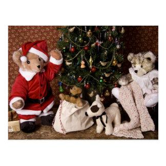 Natal de 3806 papais noeis do urso de ursinho cartão postal
