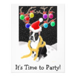 Natal de Boston Terrier Convites