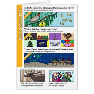 Natal de Clickbait Cartão Comemorativo