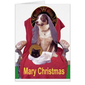 Natal de Mary Cartão De Nota