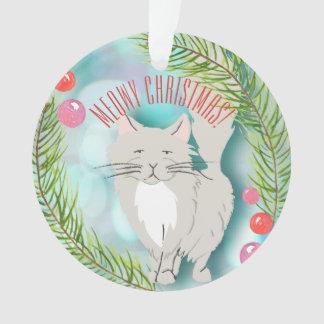 Natal de Meowy - ornamento festivo do gato do