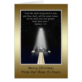 Natal, de nossa casa, religiosa, natividade cartões