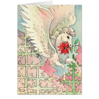 Natal de Pegasus Cartão