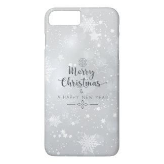Natal de prata elegante & capa de telefone do ano