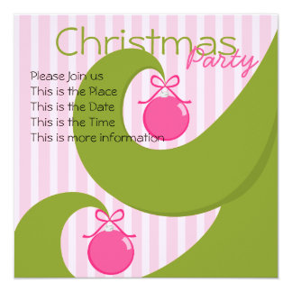 Natal de Swirly Convite Quadrado 13.35 X 13.35cm