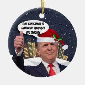 Natal de Yuge! Ornamento da árvore de Donald Trump