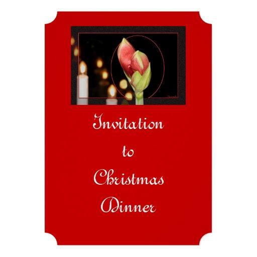 Natal do Amaryllis Convite Personalizado
