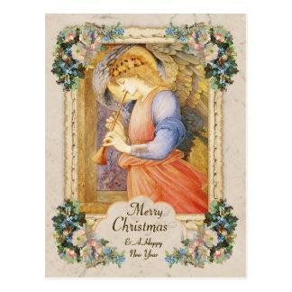 Natal do anjo CC0806 do músico de Burne-Jones Cartão Postal