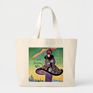 Natal do art deco sacola tote jumbo
