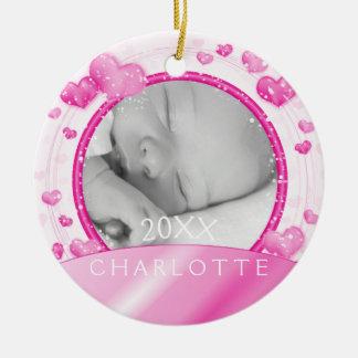 Natal do bebé do ornamento   da foto ø