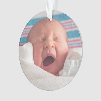 Natal do bebê do ornamento | da foto o primeiro