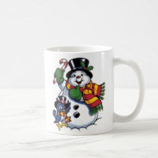 Natal do boneco de neve caneca de café