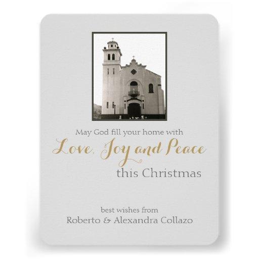 Natal do cinza da igreja Católica Convite