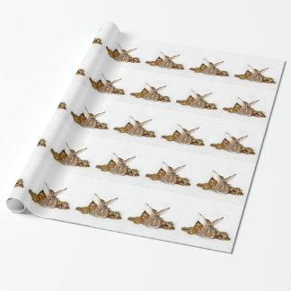 Natal do coelho de coelho papel de presente