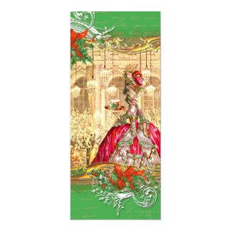 Natal do convite do tea party de Marie Antoinette