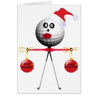 Natal do golfe cartão comemorativo