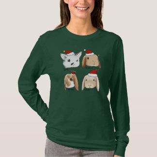 Natal do grupo do coelho camiseta