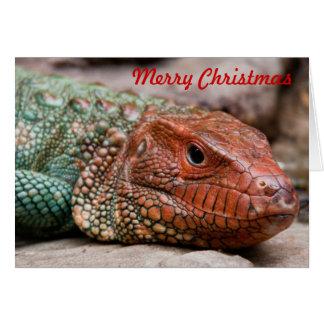 Natal do lagarto cartão de nota