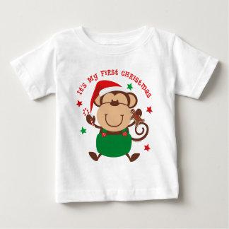 Natal do menino do macaco ø tshirt