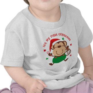 Natal do menino do macaco ø tshirts
