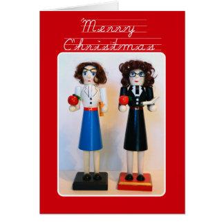Natal do Nutcracker do professor Cartão Comemorativo