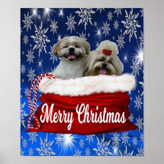 Natal do poster do tzu de Shih