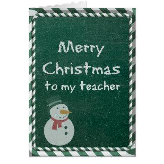 Natal do professor cartão comemorativo