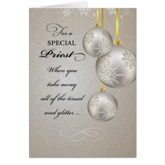 Natal do sacerdote católico, elegante cartão comemorativo
