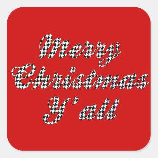Natal do sul Houndstooth de cumprimento Adesivo Quadrado