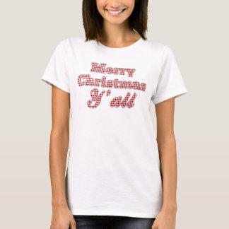 Natal do sul Houndstooth de cumprimento Custom3 Camiseta