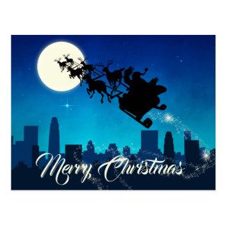 Natal do trenó de Papai Noel - cartão