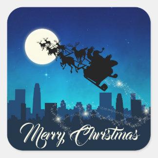 Natal do trenó de Papai Noel - etiqueta