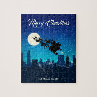 Natal do trenó de Papai Noel - quebra-cabeça