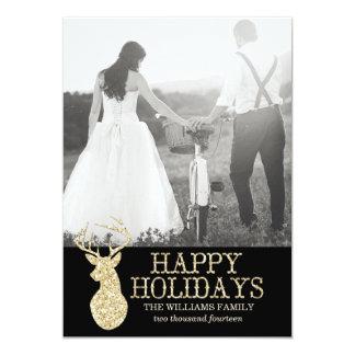 Natal dos cartões com fotos | dos cervos do brilho convites