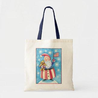 Natal dos desenhos animados, Papai Noel patriótico Bolsa