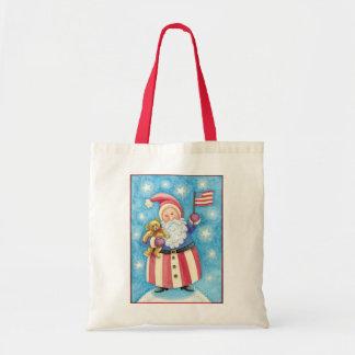 Natal dos desenhos animados, Papai Noel patriótico Bolsa Tote