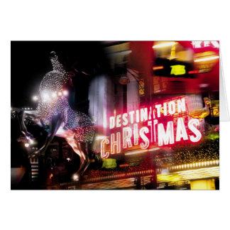 Natal dos destinos de Londres Cartão Comemorativo