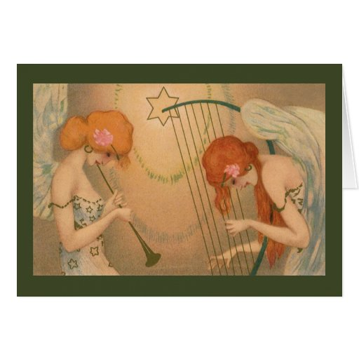 Natal dos músicos do anjo do Victorian da música d Cartoes