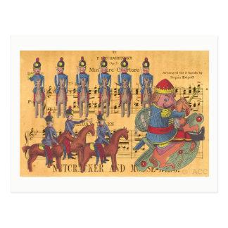 Natal dos soldados do Nutcracker de Tchaikovsky Cartão Postal