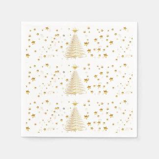 Natal dourado ajustado - guardanapo de papel do