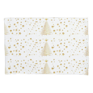 Natal dourado ajustado - única fronha de almofada